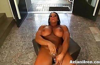 Aziani Iron Amber Deluca Amazon Bodybuilder with round Huge Clit