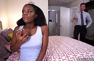 Haylee Wynters gets a sex lesson from her stepdad