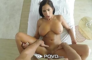 POVD Stacy Jays big rack wobbles when fucked POV style