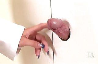 Nasty nurse doing cock treatement