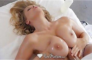 PureMature Massage bathing MILF Julia Ann fuck and facial