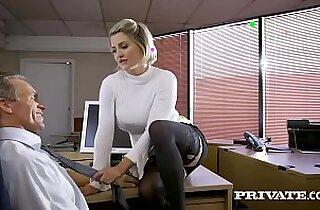 British babe Sienna Day fucks her boss