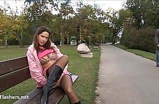 Debbies public masturbation and outdoor amateur cfnm babes striptease and self finger