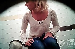 Successful voyeur video of the toilet. View from the two cameras.