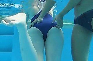 Fingering Tight Asian at Pool